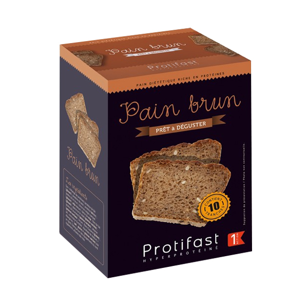 PROTIFAST Pain brun 10 tranches